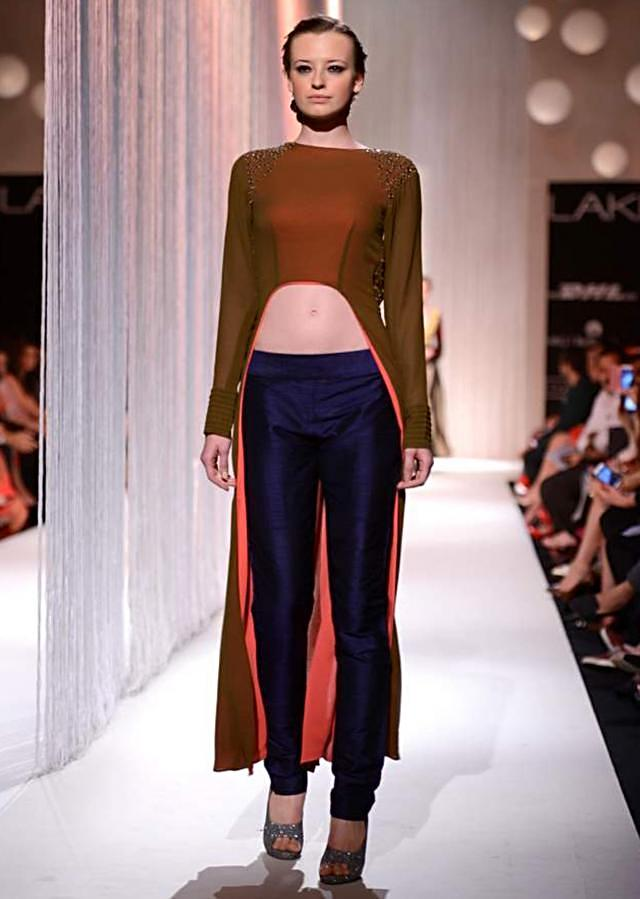Manish Malhota collecton named Reflection at the lakme Fashion week Winter/Festival 2013 MM 109