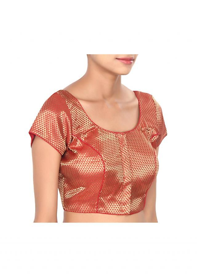 Maroon blouse with princeline cut only on Kalki