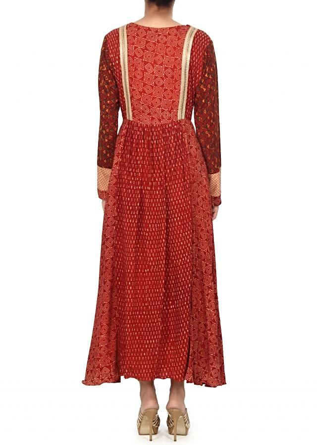 Maroon dress with fancy sequin lace only on Kalki