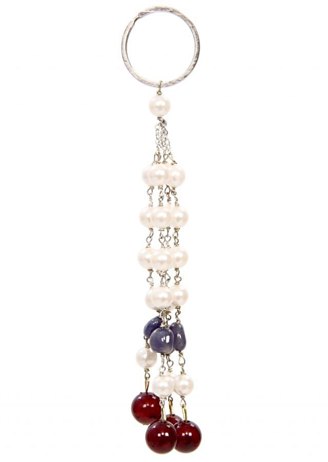 Multi beaded line keychain with traditional touch and a sweet giveaway too only on Kalki