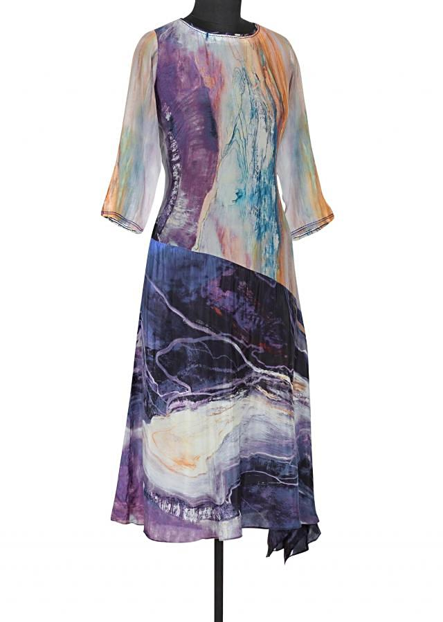 Multi Color Kurti In Abstract Print Online - Kalki Fashion