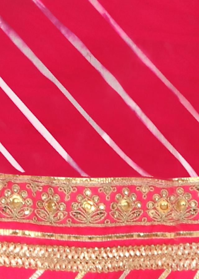 Multi color unstitched suit in gotta lace only on Kalki