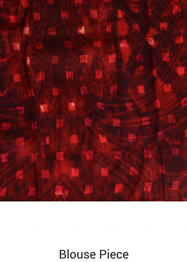 Multi colure saree in checks and floral print only on Kalki