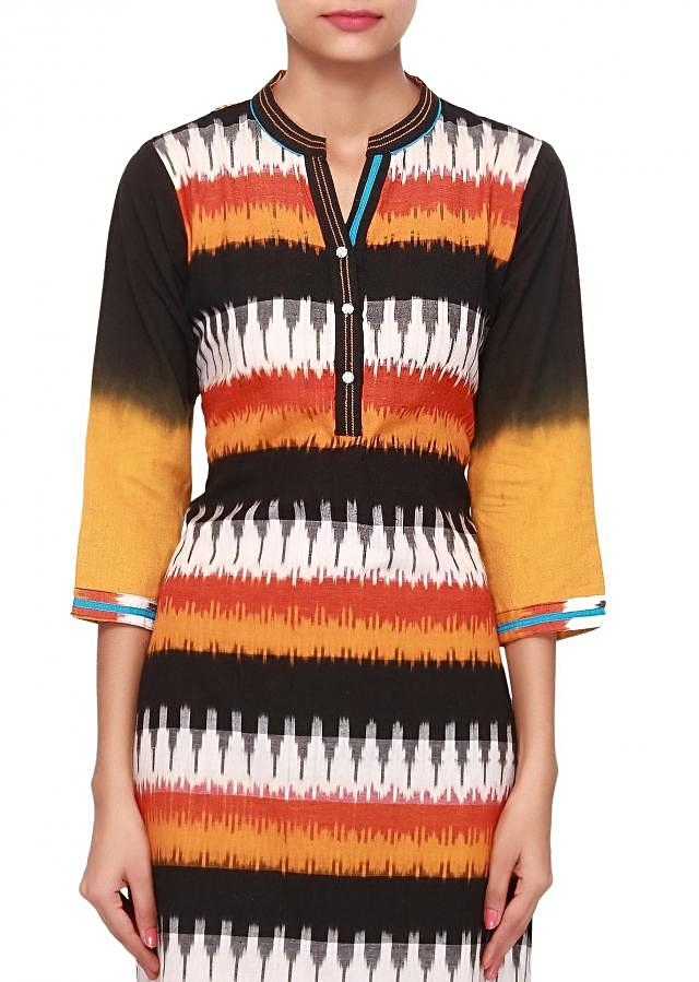 Multi color kurti featuring with fancy buttons only on Kalki