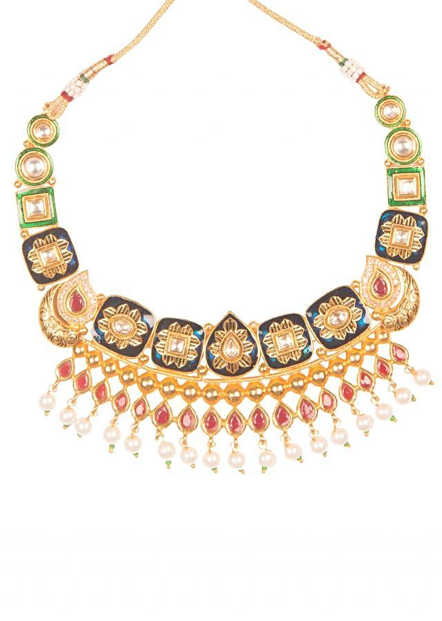 Multicolor Pearl And Stone Jewellery set only on Kalki
