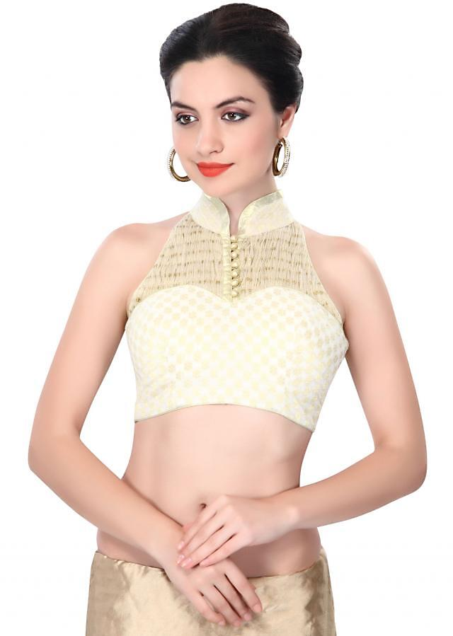 Off white blouse adorn in rushing only on Kalki