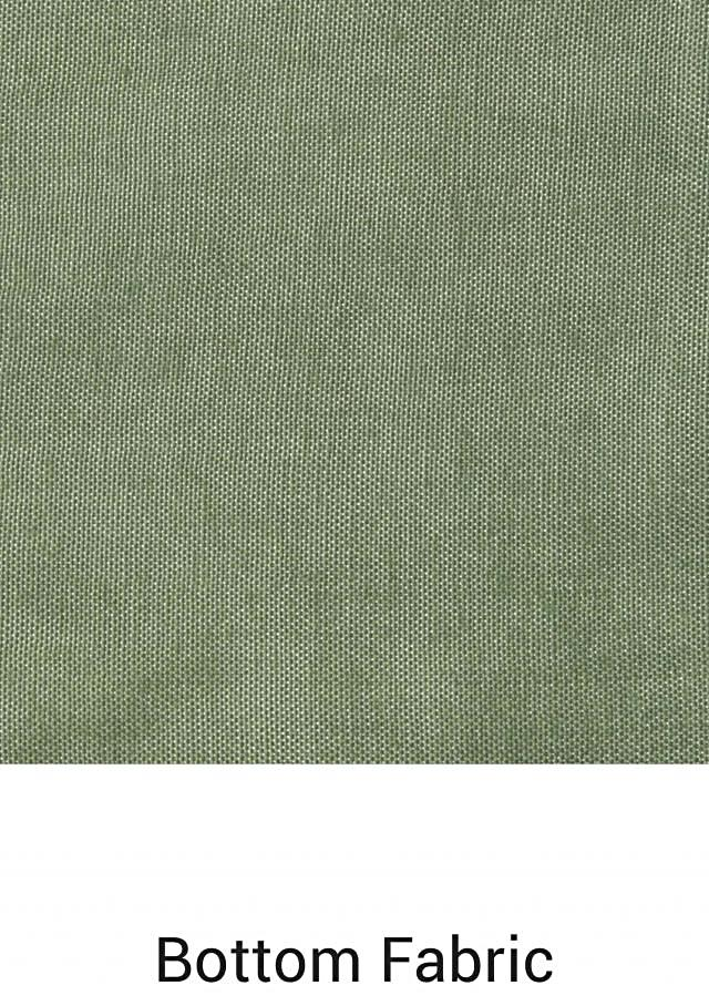 Olive green unstitched suit lucknowi thread embroidery only on Kalki