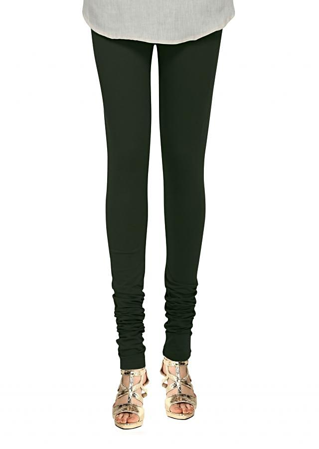 Olive legging in lycra only on Kalki