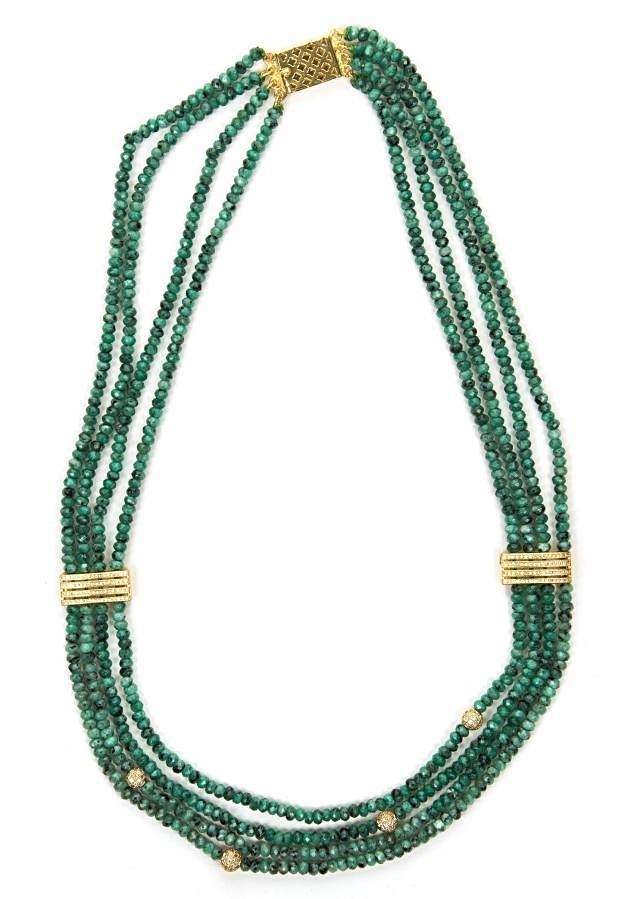 Olive green beaded necklace only on Kalki