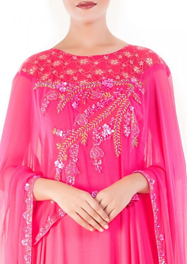 Orchid Pink Cape Gown