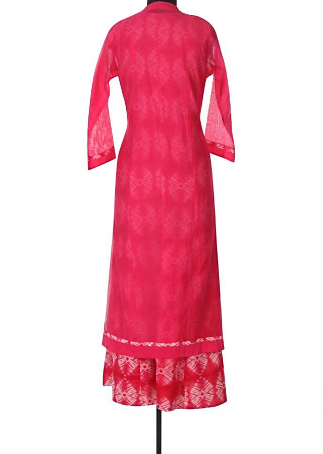 Pink and cream kurti adorn in gotta patch embroidery only on Kalki