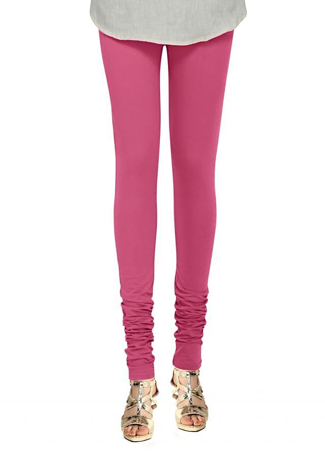 Pink Leggings In Lycra Online - Kalki Fashion