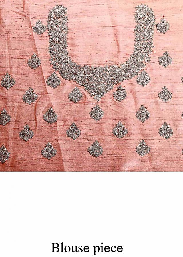 Pink lehenga adorn in sequin and zari embroidery only on Kalki