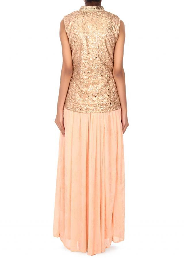 Pink lehenga with embroidered jacket blouse only on Kalki
