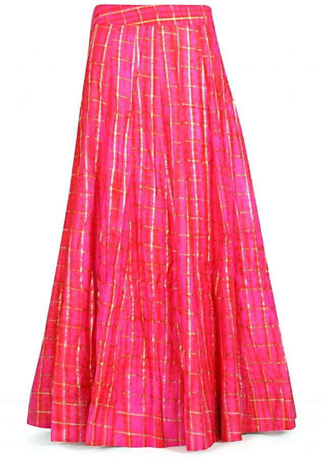 Pink lehenga with resham embroidered blouse only on Kalki