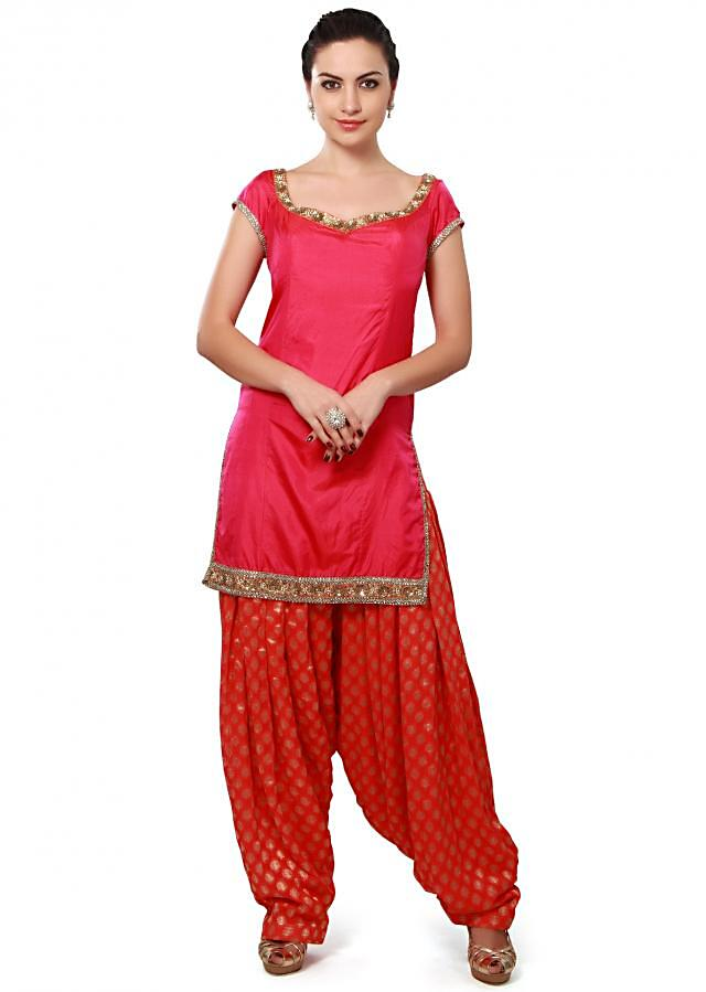 Pink patiyala suit adorn in sequin embroidery only on Kalki