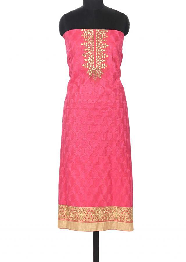 Pink unstitched suit in gotta patch work only on Kalki