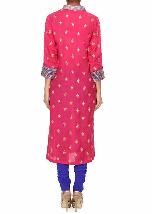 Pink kurti featuring with embellished collar and pocket only on Kalki