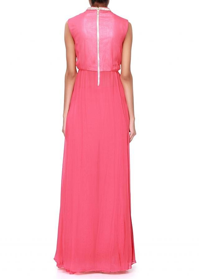 Pink straight suit adorn in pleats only on Kalki