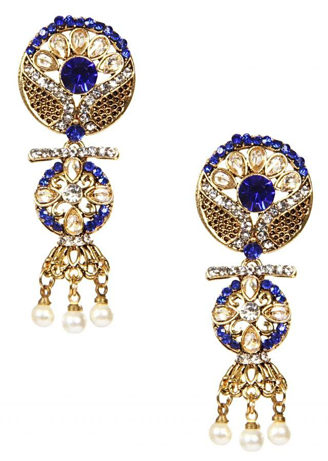 Ethnic Of White And Colored Crystals And Enamel