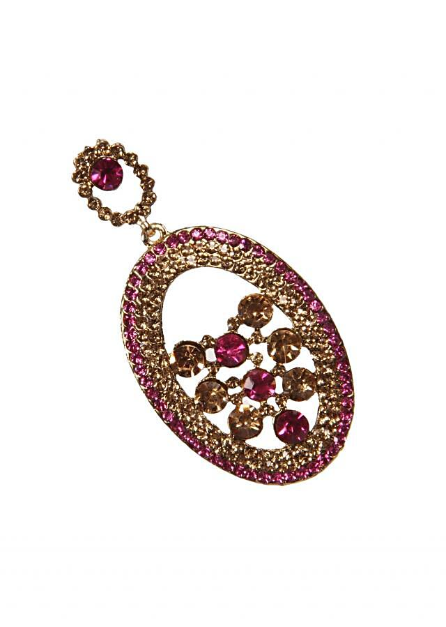 Ruby Cut Crystil Earring