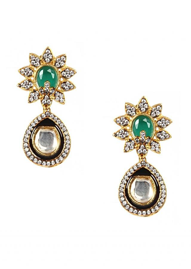 High Micron Gold Plating Ethnic Earring