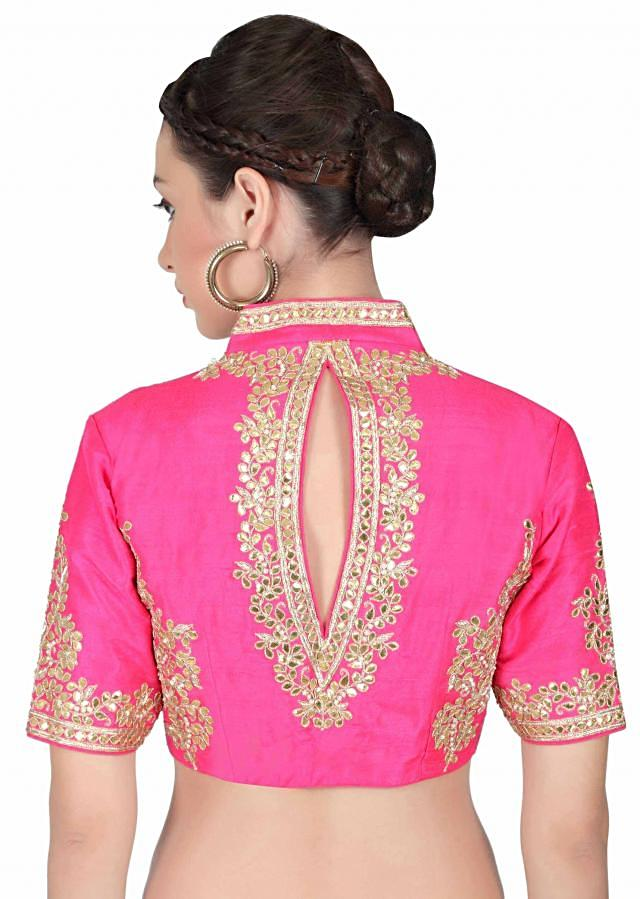 Rani pink blouse adorn in gotta patch work only on Kalki