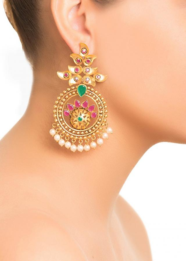 Red Traditional Maharastrian Earrings