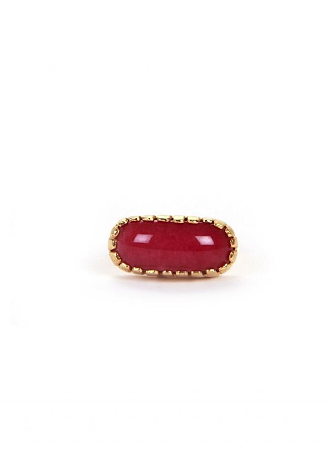 Ring With Ruby Setting only on Kalki