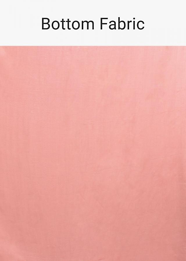 Rose Pink Semi stitched Suit With Floral Buttis And Embellished Placket Online - Kalki Fashion