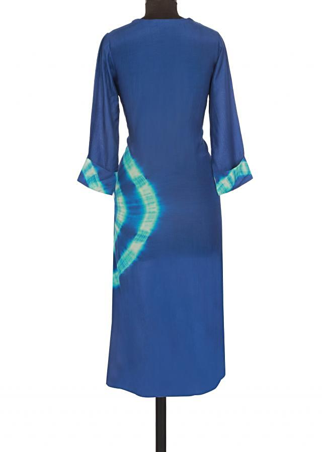 Royal blue kurti in bandhani dye only on Kalki