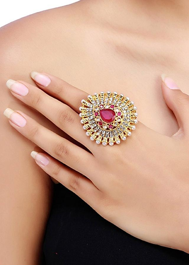 Ruby Gold Plated Ring