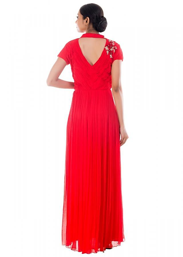 Scarlet Red Long Gown