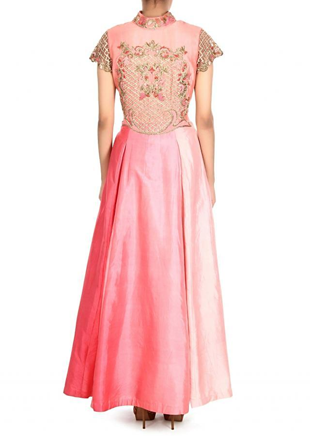 Shaded anarkali suit in french knot and zardosi only on Kalki
