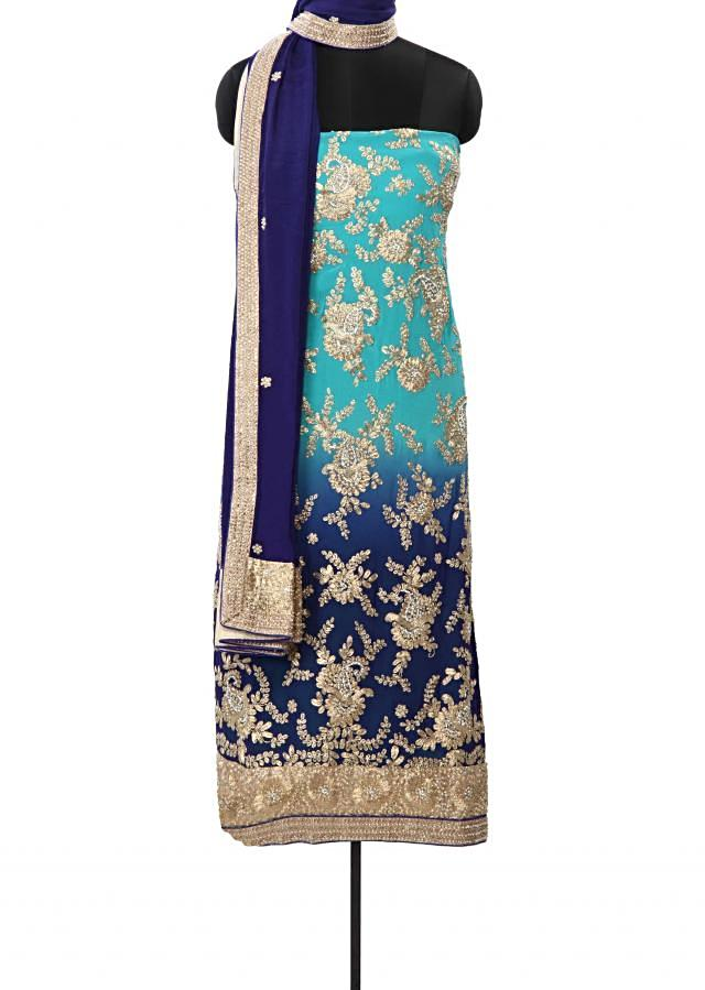 Shaded kurti embellished in zari and pearl embroidery only on Kalki