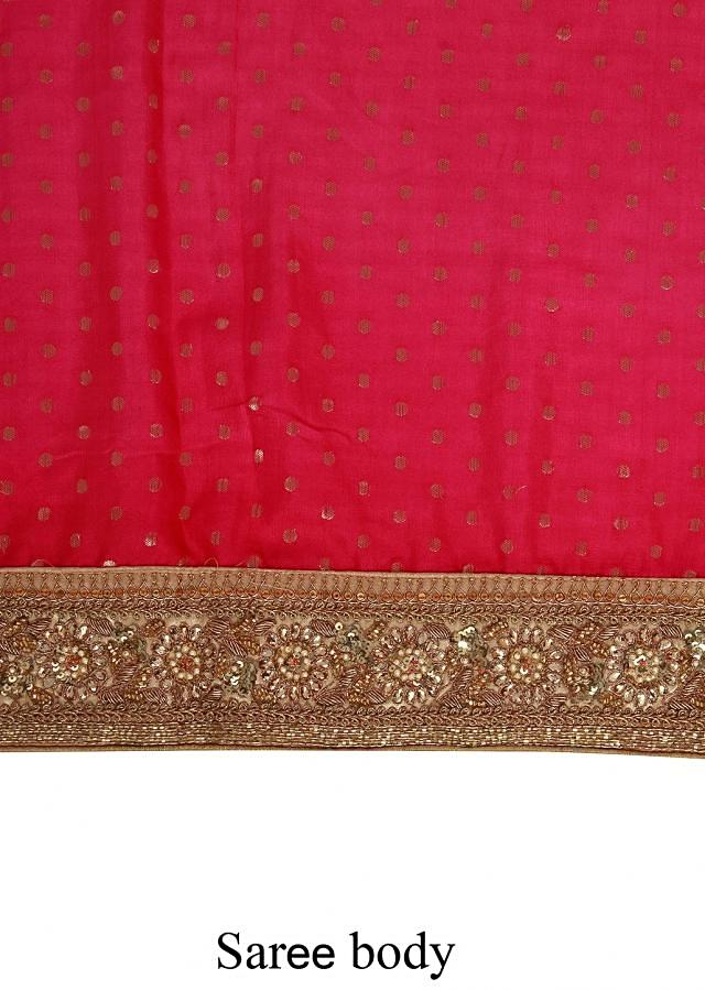 Shaded saree adorn in weave and sequin embroidery only on Kalki