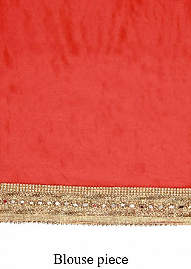 Shaded saree in peach and pink adorn in zari and sequin embroidery only on Kalki