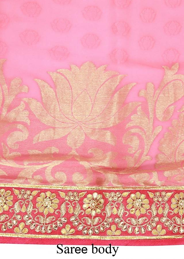 Shaded saree in pink adorn in gotta patti only on Kalki