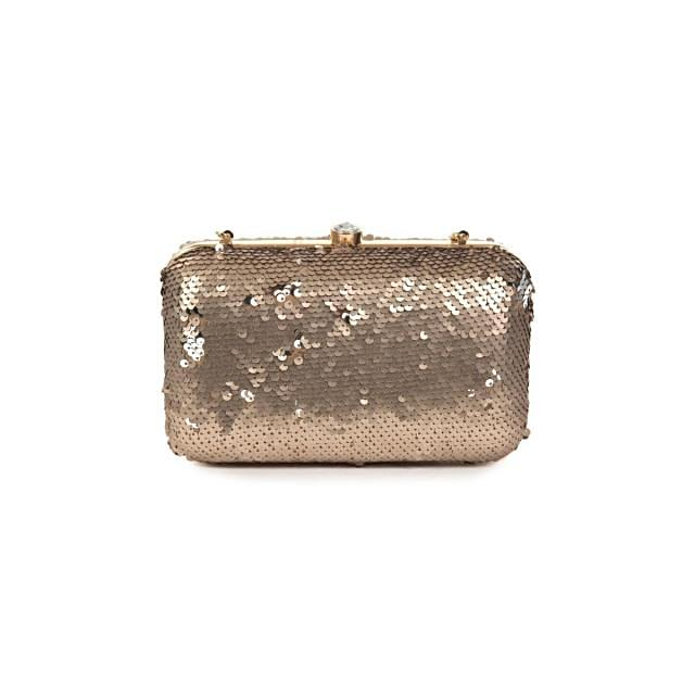 Silver Clutch featuring in sequin work