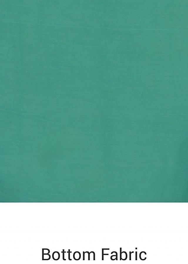 Sky blue unstitched suit with silk dupatta only on Kalki