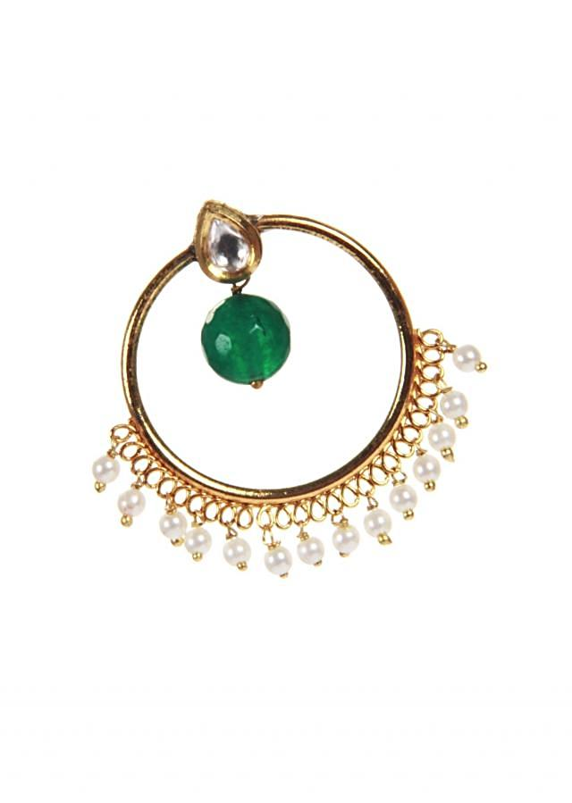 Traditional Chandbali With Pearl Hanging only on Kalki