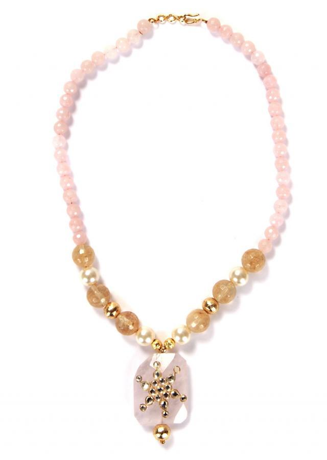 Traditional Necklace With Tourmaline Beads only on Kalki