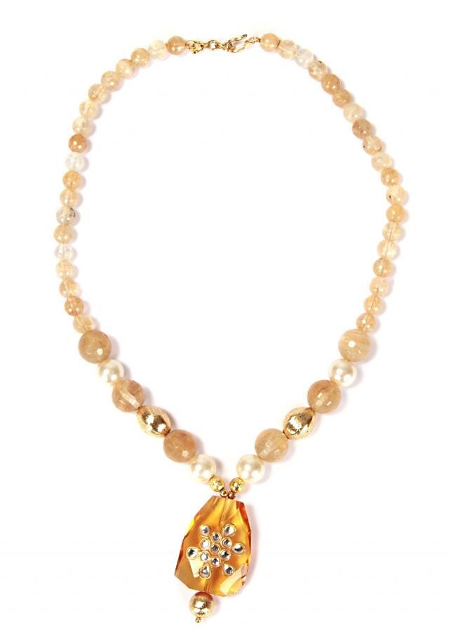 Traditional Necklace With Yellow Topaz only on Kalki