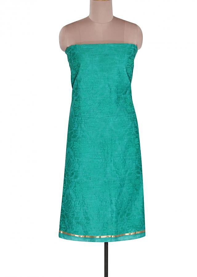 Turq unstitched suit mathced with embroidered dupatta only on Kalki