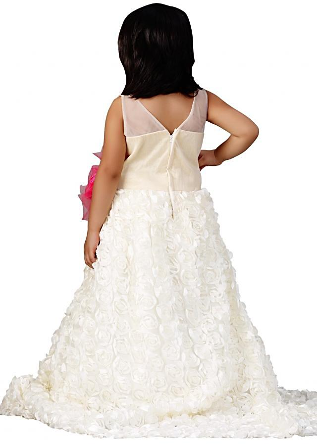 White gown with fancy bow