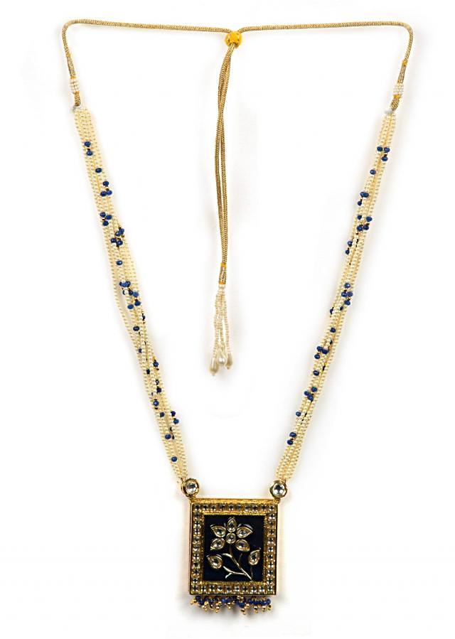 White and royal blue beaded necklace only on Kalki