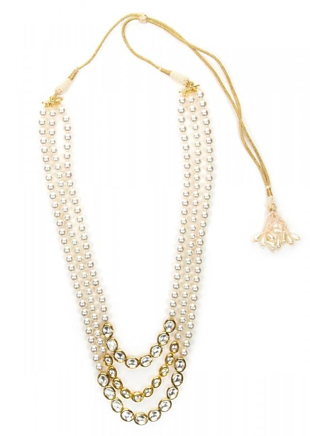 White pearl and kundan necklace only on Kalki