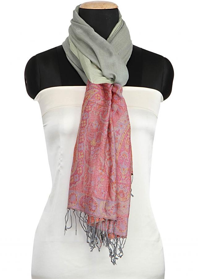 Winter shawl featuring in mint viscose only on Kalki