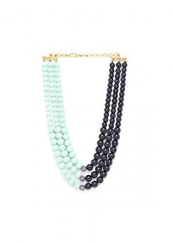 Blue And Black Dual Toned Necklace With Shell Pearls Online - Joules By Radhika